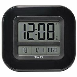 Timex 75322T Atomic Clock with Date, Day of Week and Indoor Temperature