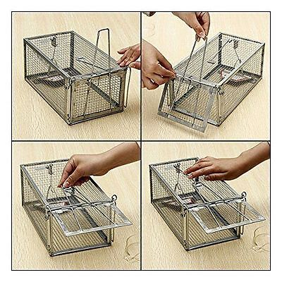 One Door Animal Trap Steel Cage for Small Live Rodent Control Rat Mice Squirrel~