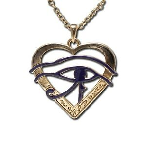 EGYPTIAN-HORUS-EYE-HEART-NECKLACE-PENDANT-SUPERIOR-ANCIENT-EGYPT-JEWELRY-NEW