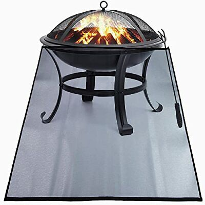 Heat Resistant Fire Pit Mat for Deck - Fireproof Ember Protector Mat Covered ...