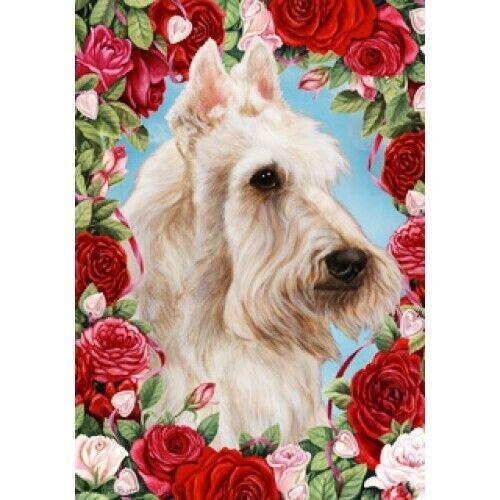 Roses Garden Flag - Wheaten Scottish Terrier 192271