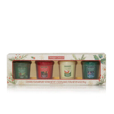 Yankee Candle Holiday Winter 4 Votive Candle Boxed Gift Set - FREE SHIPPING