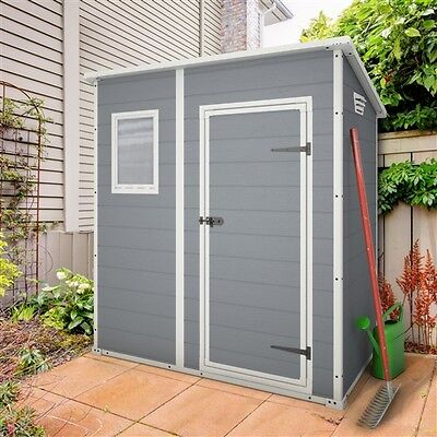 Keter Manor Pent Plastic Garden Shed 6ft x 4ft Outdoor Storage Free Delivery