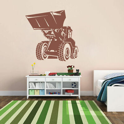 ik1539 Wall Decal Sticker loader machine work building a bedroom for sale  Shipping to Nigeria