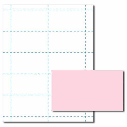 White Business Card Printer Paper – 100 Sheets (Yields 1000 Cards)