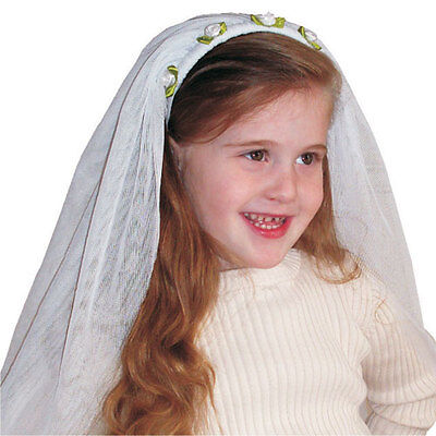 Bride Halloween Costumes For Kids (Dress up America Little Girls Kids Adorable White Bride Veil for)