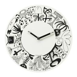 IKEA ONSKEDROM Black & White WALL CLOCK Modern, Minimalist & Stylish - Brand New