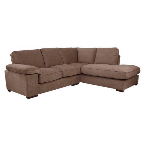 brown corner sofa ebay. Black Bedroom Furniture Sets. Home Design Ideas