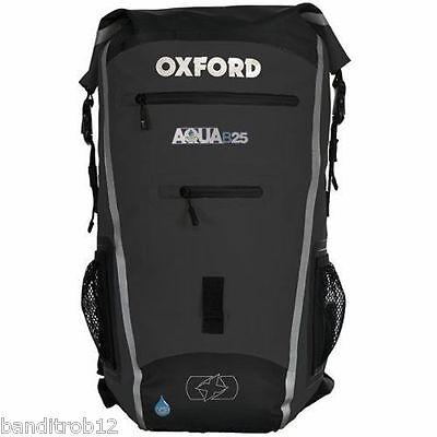 BLACK Oxford Motorcycle Aqua B25 All Weather 25L Waterproof Backpack Rucksack