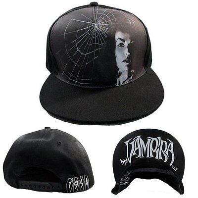 Kreepsville Elvira 1954 Punk Halloween Horror Mistress Cap Snapback Hat HBV54](Horror Punk Halloween)