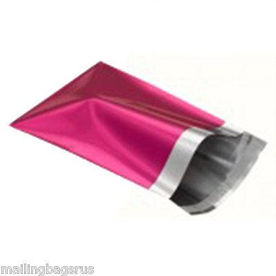 25 Metallic Foil Pink Mailing Postage Postal Bags 4.7