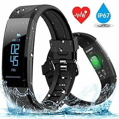 Fitnesstracker Smartwatch Pulsuhr Wasserdicht Schrittzähler für IOS und