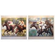 Horse Racing Oil Paintings