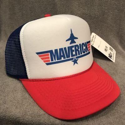 Top Gun Maverick Trucker Hat Vintage Style Movie Promo Snapback Navy Cap 2305 - Top Gun Hat