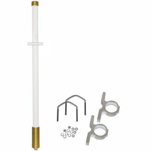 Vertical Fiberglass No-Ground Antenna VHF 152-156 MHz Repeater Base Radio BR6050