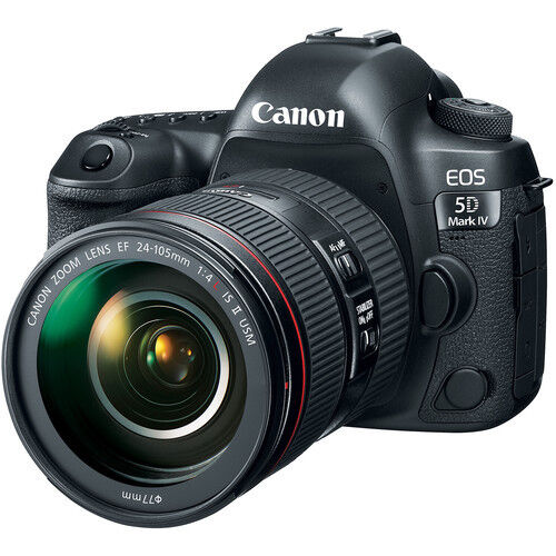 Canon EOS 5D Mark IV DSLR Camera with 24-105mm f/4L IS II USM Lens 1483C010
