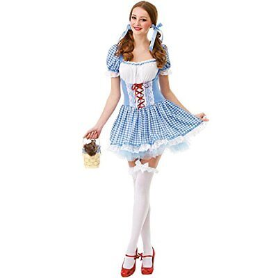 Kansas Belle Women's Halloween Costume Sexy Dorothy of Oz Blue Checkered Dress - Belle Dress For Women