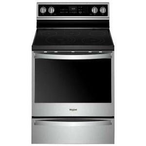 30-inch Whirlpool Electric Range, Storage Drawer, Stainless, Showroom