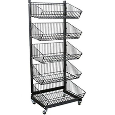 New Retails 5 Basket Metal Impulse Display Rack 23-12 In W X 21 In D X 58 In H