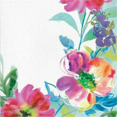 Floral Party Napkins (Painterly Floral Lunch Napkins Watercolor Spring Flower Floral Party)