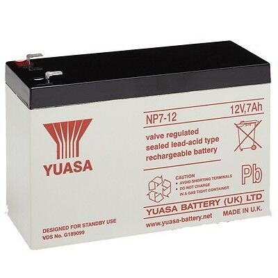 NP7-12 12v 7Ah 20HR GENUINE Yuasa Lead Acid Rechargeable Battery NP6-12