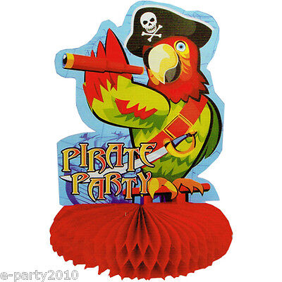 PIRATE PARTY PARROT HONEYCOMB CENTERPIECE ~ Birthday Party Supplies - Pirate Birthday Party Supplies