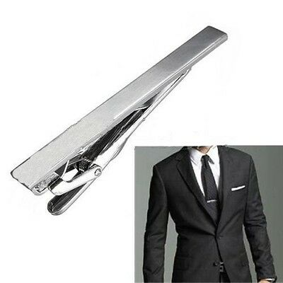 NEW Gentleman Silver Metal Simple Practical Plain Necktie Tie Clip Bar Clasp
