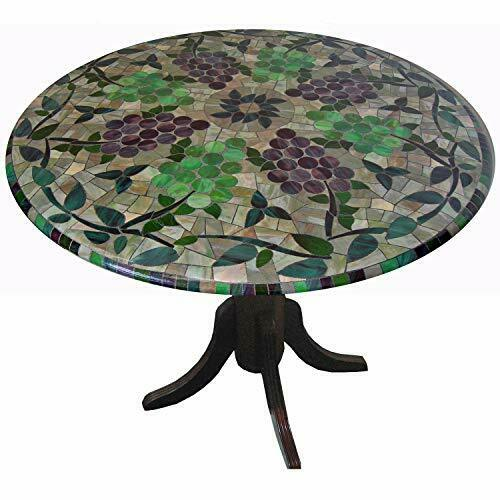 "Mosaic Table Cloth Round 36"" to 48"" Elastic Edge Fitted"