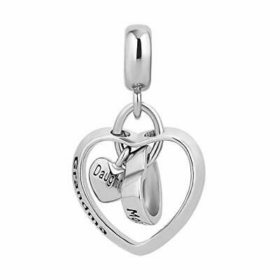 Mother Daughter Grandma Charm Use With Pandora Bracelet Love You To The Moon - Mother Daughter Charm Bracelets