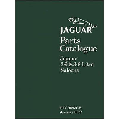 Jaguar XJ6 Parts Catalogue (XJ40) paper book