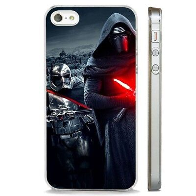 Kylo Ren And Stormtrooper Star Wars CLEAR PHONE CASE COVER fits iPHONE 5 6 7 8 X
