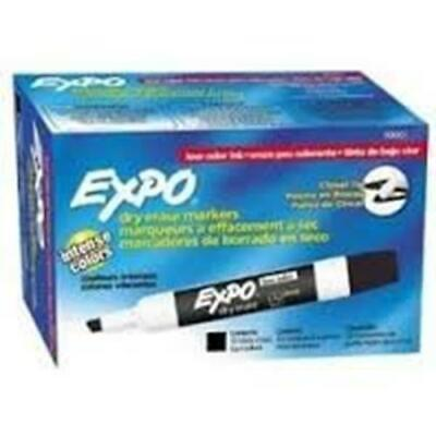 Expo Low-odor Dry Erase Markers Chisel Tip12 X 12-pack Black Total Of 144 Mar