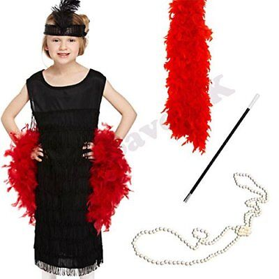 CHILDRENS KIDS GIRLS FRINGE FLAPPER FANCY DRESS COSTUME 1920S 20S - 1920 Kid Kostüm
