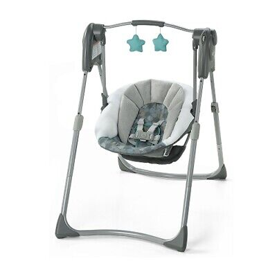 Baby Newborn Infant Swing Recline Seat Chair Portable Bassinet Crib Folding Home