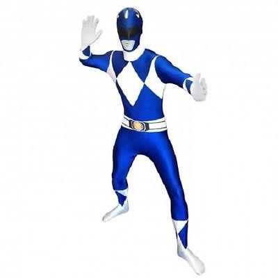 Morph-Anzug Blau Power Rangers Anzug Skin Halloween Erwachsene Kostüm 78-0318 ()
