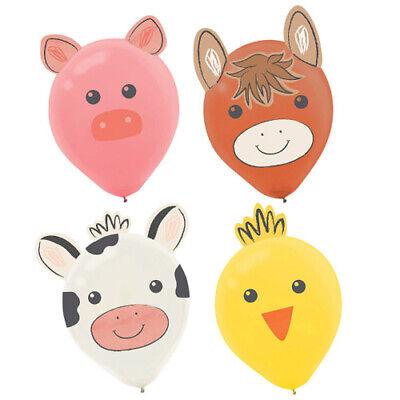 BARNYARD BIRTHDAY BALLOON DECORATING KITS (6) ~ Party Supplies Helium Farm Cute](Barnyard Birthday Supplies)