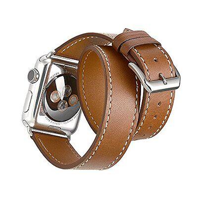 Luxury Genuine Leather Apple Watch Band Strap Bracelet Wrist Band brown 38mm
