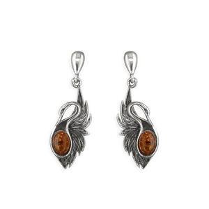 Gold Amber Earrings