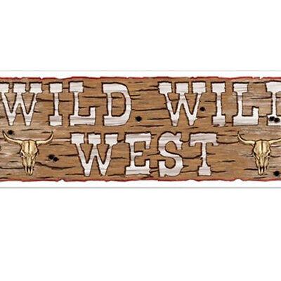 Wild Wild West Sign Banner Party Accessory](Wild Wild West Decorations)