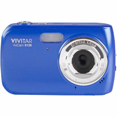 Vivitar ViviCam VS126- BLU 16MP 4x Zoom Compact Digital Camera  Blue - NEW™ Digital Blue Vivitar Vivicam