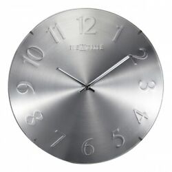 Boyle NeXtime Modern Indoor Stylish Wall Clock Elegant Dome - Silver