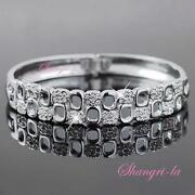 Solid White Gold Bangle