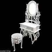 White Vanity Chair