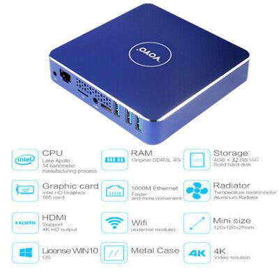VOYO Mini PC Licensed Windows 10 Intel Apollo Lake Celeron N