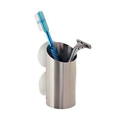 bath storage holder toothbrush brushed razor stainless steel shower suction cup ebay. Black Bedroom Furniture Sets. Home Design Ideas