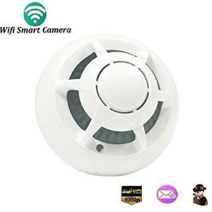 Wifi UFO Hidden Camera Wireless Spy Cameras Smoke Detector HD 1080P Motion Detection Surveillance Nanny Camera[ 8GB incl
