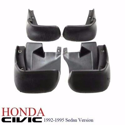 1 Set 92-95 Honda Civic 4dr EG9 Sedan FERIO Full Mud Splash Guard Mudflap NEW - Honda Civic Mud