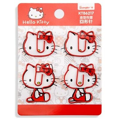 Hello Kitty Note Office Paper Clip School Supplies 1 Set Of 4pcs Kk882