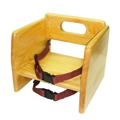 Natural Finish Wooden Food Restaurant Child Toddler Baby Booster Seat Chair