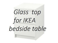 Glass top for Chest (bedside table) IKEA MALM, 40x48 cm.